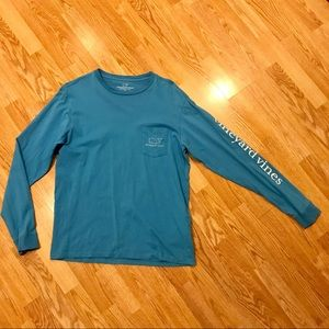 Vineyard Vines long sleeve tee. Small. Blue.